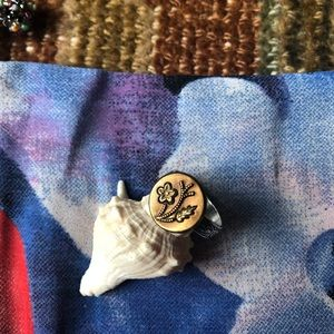 Jewelry - OOAK Vintage Button Ring